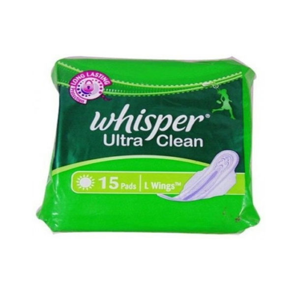 Whisper Ultra Clean Wings (L) 15\'s - Mahadev Pharmacy