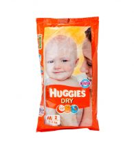 HUGGIES NEW DRY MEDIUM 2'S
