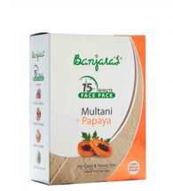 BANJARAS 15MINUTE MULTANI MITTI FACE PACK POWDER 100GM