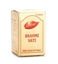 Dabur Brahmi Vati With Gold & Pearl Tablet 10's